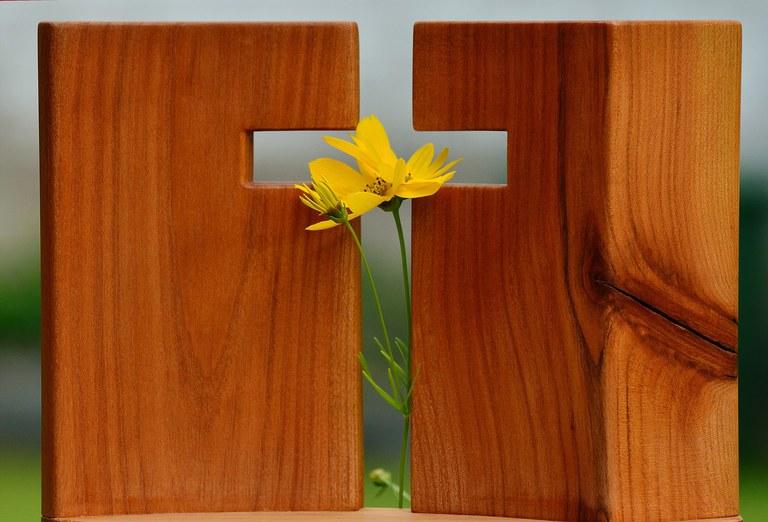 Funerailles croix fleur