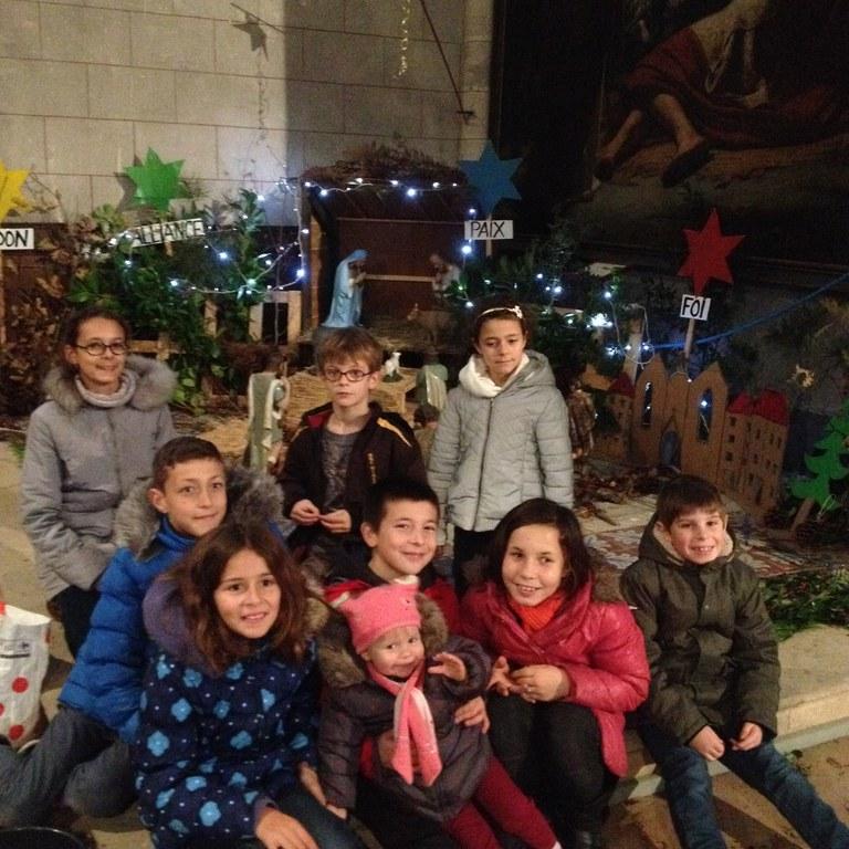 Créche Villandraut et les enfants
